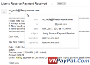 Bằng chứng thanh toán adf.ly ngày 7 tháng 1 năm 2013.