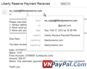 Bằng chứng thu nhập Linkbucks, 17/02/2013