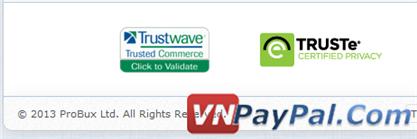 Probux là một công ty được đăng ký, cũng đã được đăng ký ở Trustwave và TRUSTe