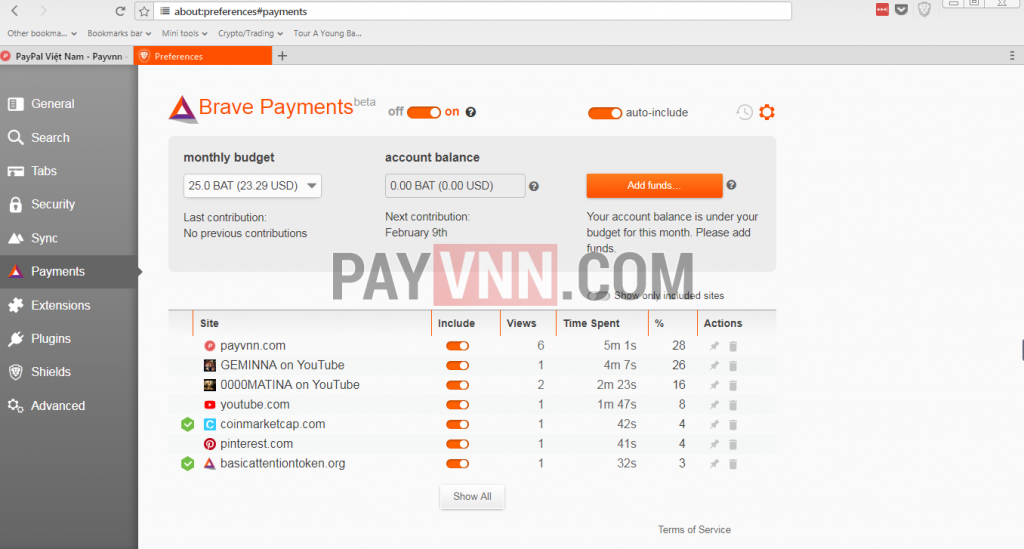 Brave Payments là hệ thống tự động hỗ trợ nhà xuất bản