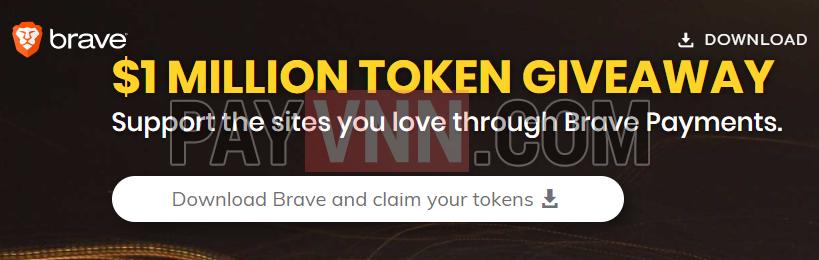 Tặng BAT token cho người dùng trình duyệt Brave