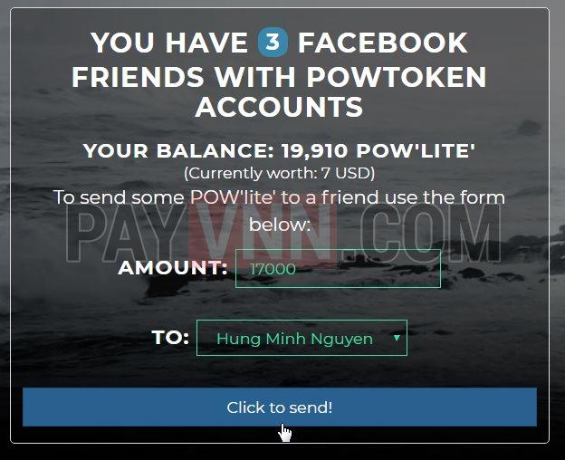 Gửi Token POW
