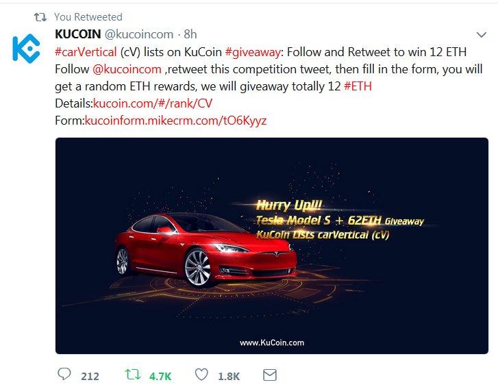 Chương trình tặng Bitcoin miễn phí từ Kucoin