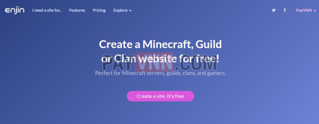 Dịch vụ tạo website miễn phí cho game clan/guild