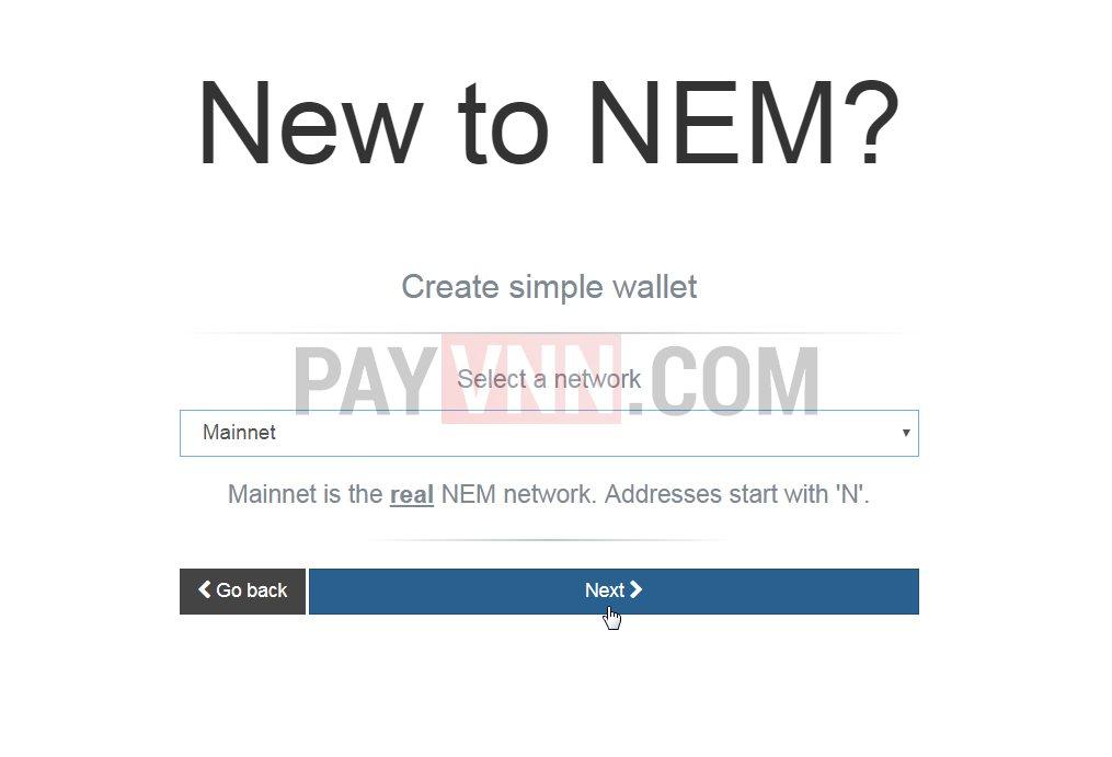 Mo vi NEM XEM voi Nano Wallet 2