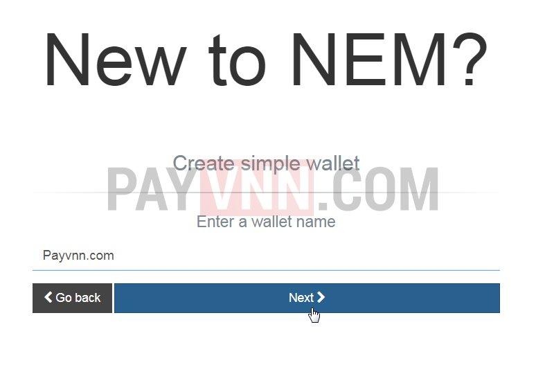 Mo vi NEM XEM voi Nano Wallet 3