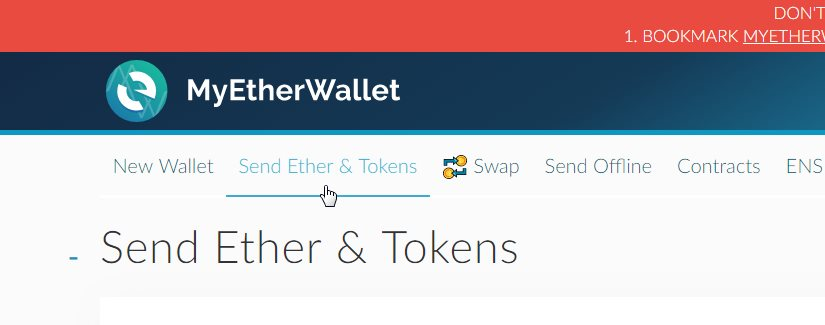 Send Ether Tokens
