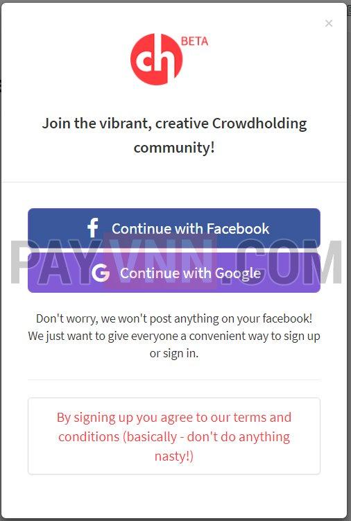 Crowdholding Airdrop