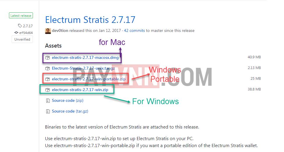Thư viện tải phần mềm Electrum Stratis