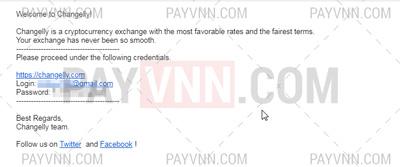 Nhận Email có chứa mật khẩu tài khoản