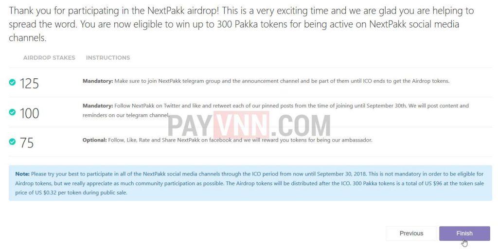 Nhan Airdrop NextPakk