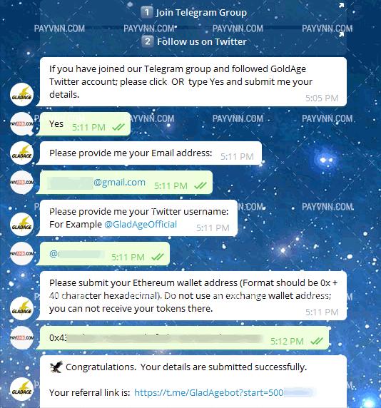 Tham Gia Airdrop GladAge cùng PayVNN