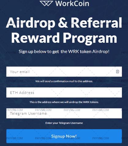 Tham Gia Airdrop WorkCoin cùng PayVNN