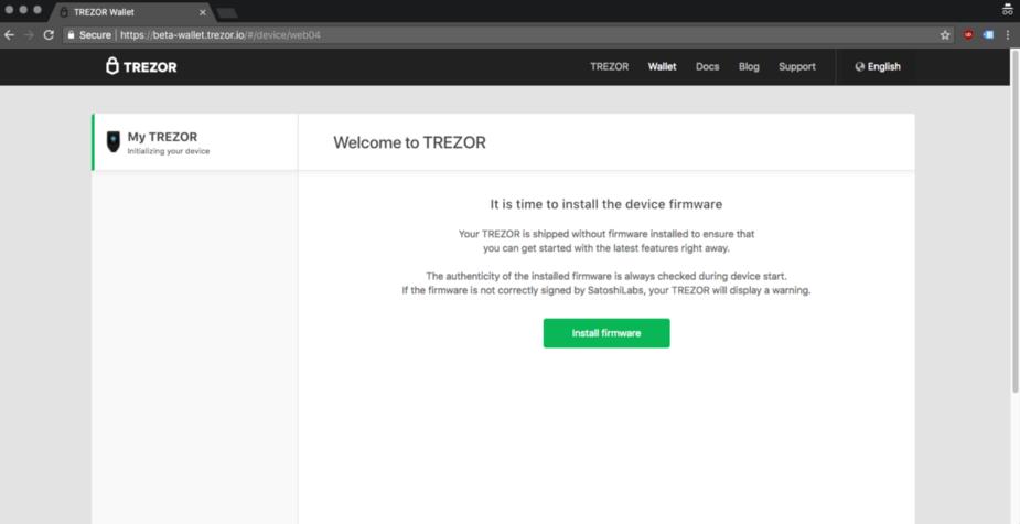 Cài Đặt Firmware cho TREZOR T