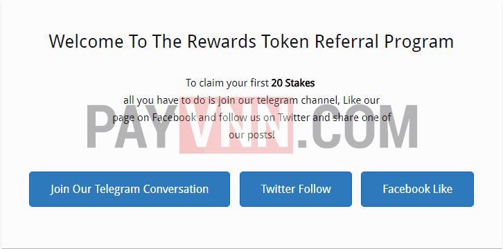 Dashboard RewardsToken