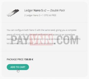 Ledger Double Pack Free OTG
