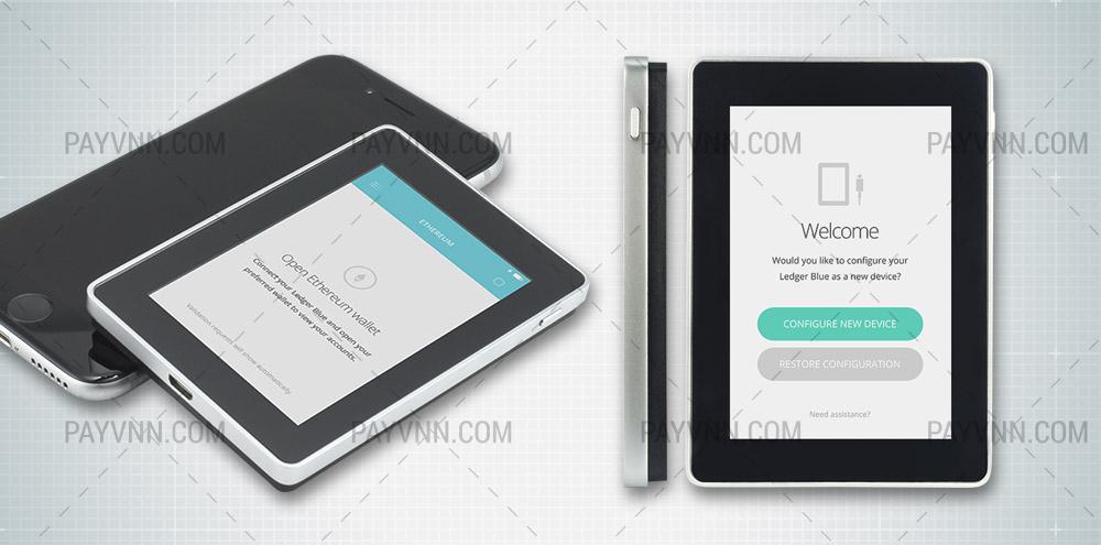 Thiết kế mới của ví cứng Ledger Blue