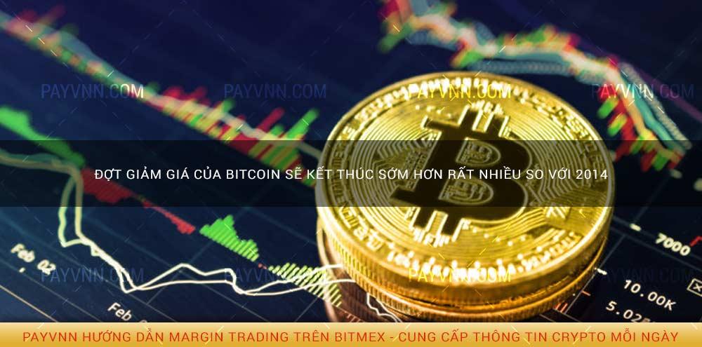 đợt giảm giá của bitcoin sẽ kết thúc sớm hơn rất nhiều so với 2014