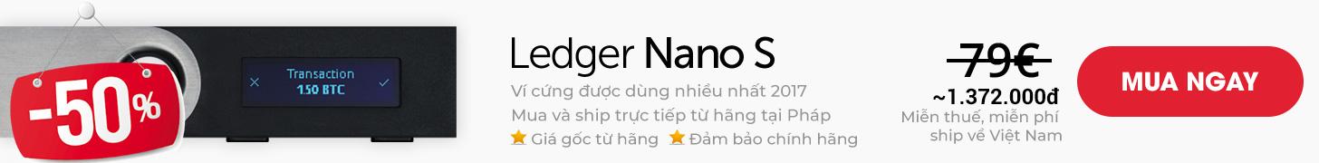 Mua ví lạnh Ledger Nano S chính hãng từ Pháp