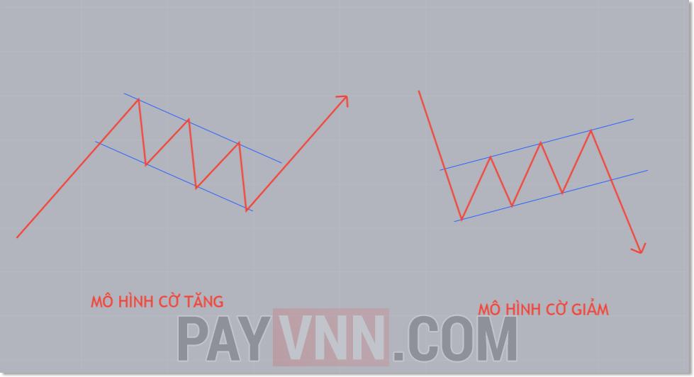 Mô hình cờ tăng và cờ giảm trong Price Action